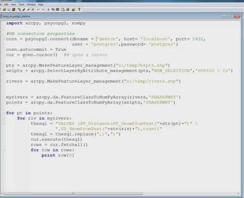 PostGIS Commands in Arcpy | gisadvising